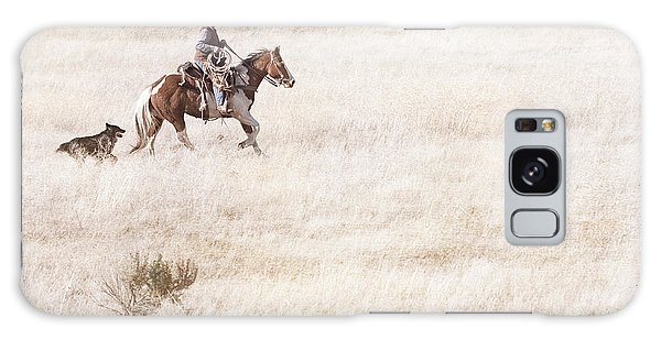 Cowboy And Dog Galaxy Case