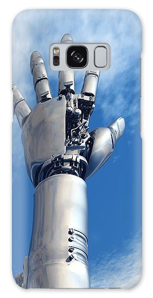 Biomedical Engineering Galaxy Case - Cybernetic Arm, Artwork by Victor Habbick Visions