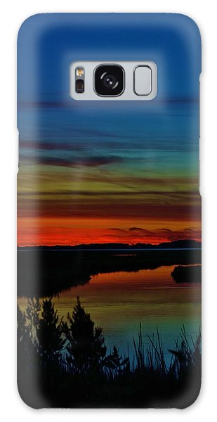 Deep Marshland Sunset Galaxy Case