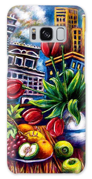 Down Town Tulips Galaxy Case