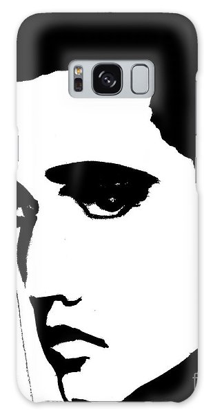 Elvis In Black And White Galaxy Case