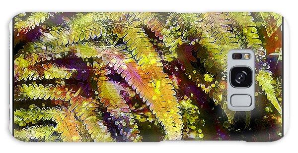 Fern In Dappled Light Galaxy Case by Judi Bagwell