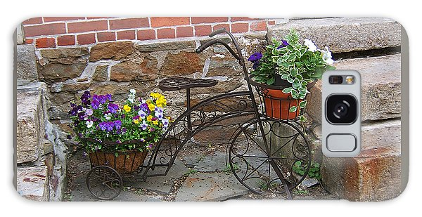 Flower Bicycle Basket Galaxy Case by Val Miller