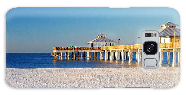 Fort Myers Beach Pier Galaxy Case