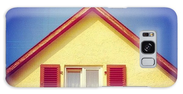 House Galaxy Case - Gable Of Beautiful House In Front Of Blue Sky by Matthias Hauser