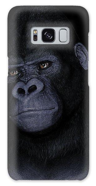 Gorilla Portrait Galaxy Case