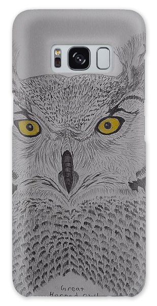 Great Horned Owl Galaxy Case by Gerald Strine