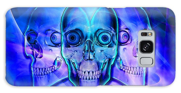 Illuminated Skulls Galaxy Case