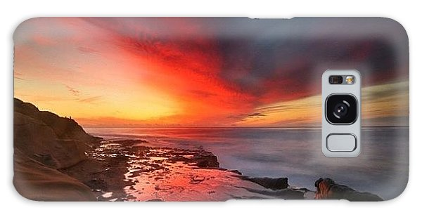 Long Exposure Sunset In La Jolla Galaxy Case