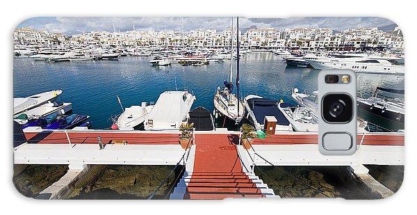 Powerboat Galaxy Case - Marina In Puerto Banus by Artur Bogacki