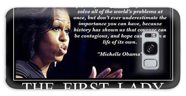 Motivational Galaxy Case - Michelle Obama by Nigel Williams