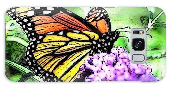 Orange Galaxy Case - Monarch Butterfly by Edward Sobuta