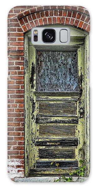 Old Green Door Galaxy Case by Joanne Coyle
