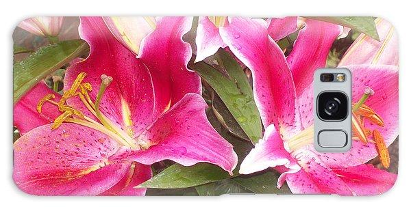 Pink Lilies Galaxy Case