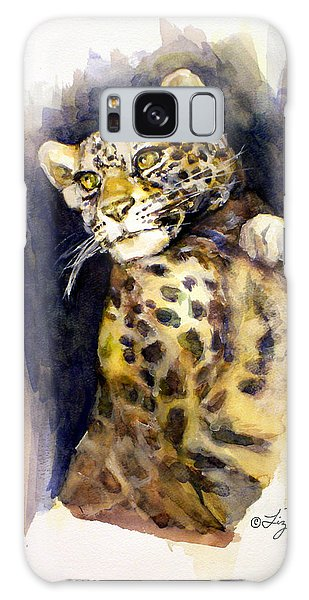 Portrait Of A Young Snow Leopard Galaxy Case