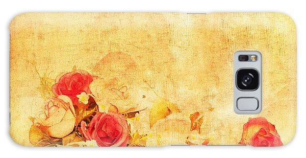 Rose Galaxy Case - Retro Flower Pattern by Setsiri Silapasuwanchai