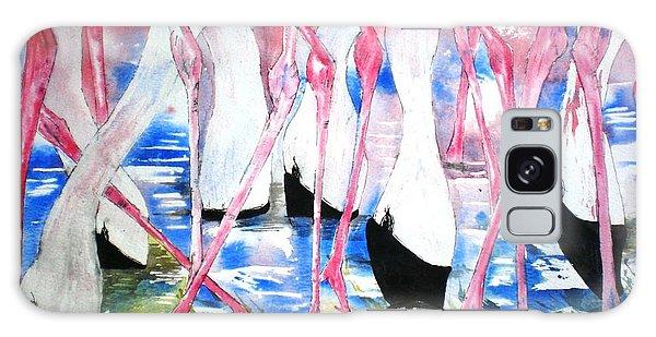 Rift Valley Flamingo Feeding Galaxy Case
