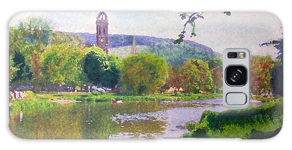 River Walk Reflections Peebles Galaxy Case by Richard James Digance