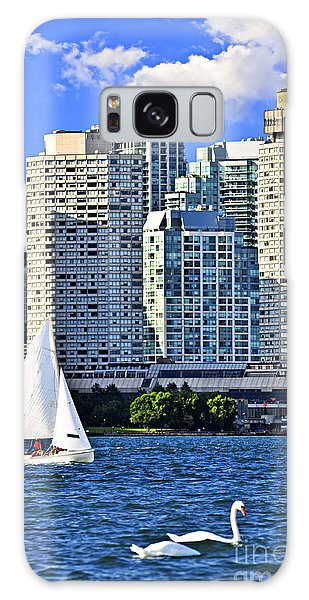 Swan Boats Galaxy Case - Sailing In Toronto Harbor by Elena Elisseeva