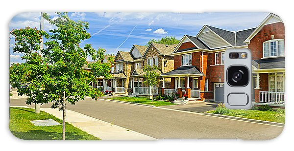 Brick House Galaxy Case - Suburban Homes by Elena Elisseeva