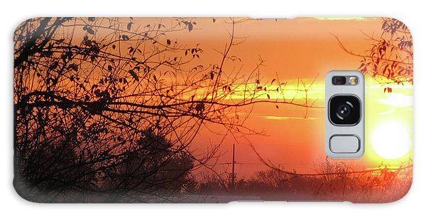 Sunrise Over Rural Homestead Galaxy Case by Cedric Hampton