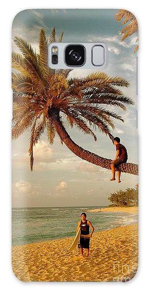 Sunset Beach Oahu Galaxy Case