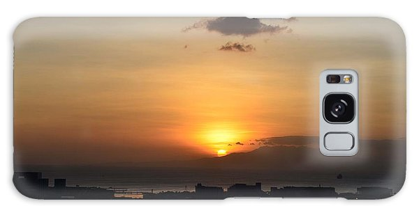 Sunset Upon The Ocean  Galaxy Case