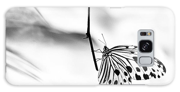 The Paper Kite Butterfly In Black And White Galaxy Case