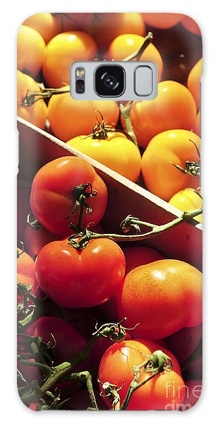 Tomatoes On The Market Galaxy Case by Elena Elisseeva
