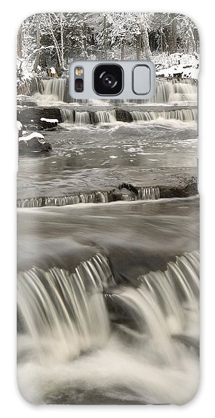 Waterfalls With Fresh Snow Thunder Bay Galaxy Case