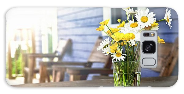 Cottage Galaxy Case - Wildflowers Bouquet At Cottage by Elena Elisseeva