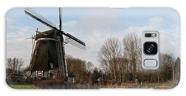 Windmill In Amsterdam Galaxy Case by Carol Ailles