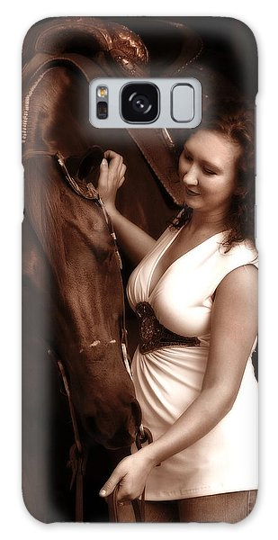 Woman And Horse Galaxy Case