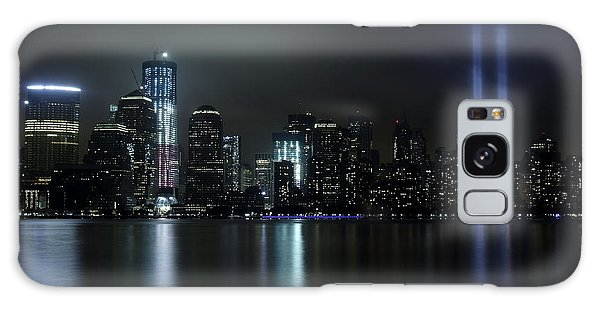 World Trade Center Memorial Lights Galaxy Case