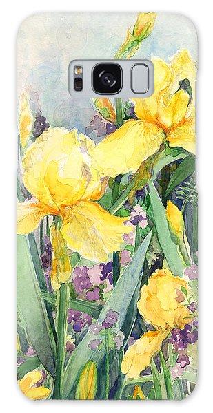 Yellow Iris Galaxy Case