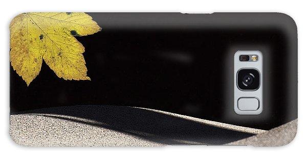 Yellow Leaf Galaxy Case by Michael Mogensen