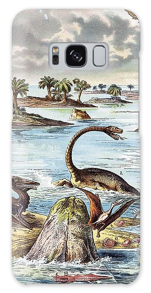 Schubert Galaxy Case - 1888 Color Lithograph Jurassic Solnhofen by Paul D Stewart