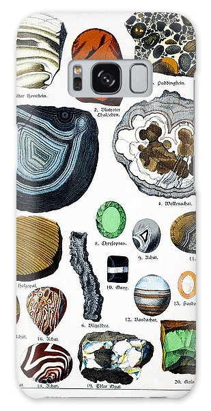 Schubert Galaxy Case - 1888 Colour Lithograph Of Minerals by Paul D Stewart