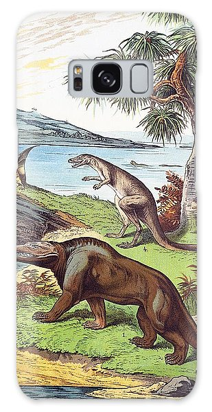Schubert Galaxy Case - 1888 Megalosaurus, Dryptosaurus Dinosaurs by Paul D Stewart