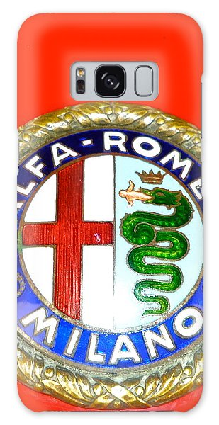 1938 Alfa Romeo 308c Hood Badge Galaxy Case by John Colley
