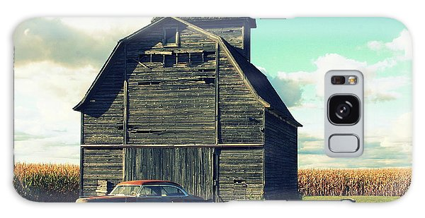 1950 Cadillac Barn Cornfield Galaxy Case by Lyle Hatch