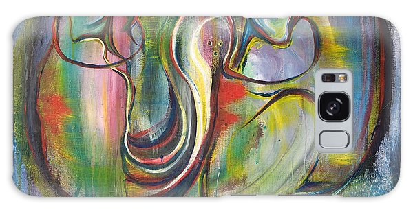 2 Snails And 3 Elephants Galaxy Case by Sheridan Furrer