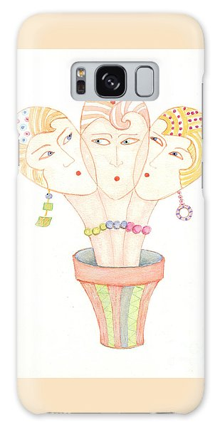 Flower Pot Ladies Galaxy Case by Nareeta Martin