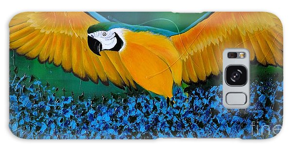 Macaw On The Rise Galaxy Case