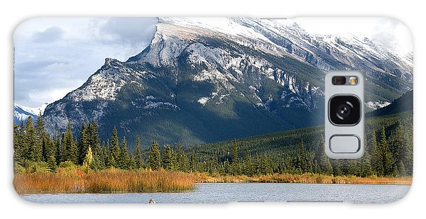 Mt Rundle Banff National Park Galaxy Case by Bob and Nancy Kendrick