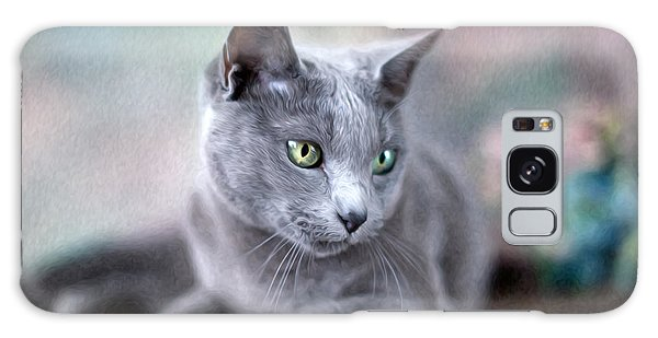 Cat Galaxy Case - Russian Blue by Nailia Schwarz