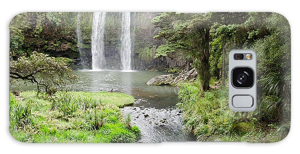 Whangarei Falls In New Zealand Galaxy Case by Yurix Sardinelly