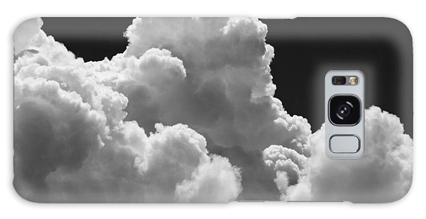 Black And White Sky With Building Storm Clouds Fine Art Print Galaxy Case by Keith Webber Jr