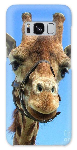 Giraffe Close Up  Galaxy Case