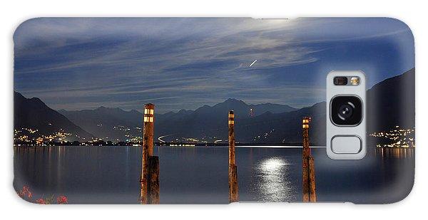 Moon Light Over An Alpine Lake Galaxy Case